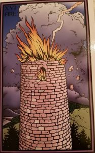 Robert Place's Tower from Tarot of the Sevenfold Mystery